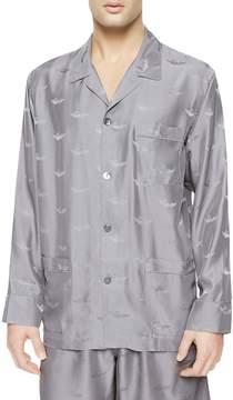 La Perla Men's Silk Way Pajama Top