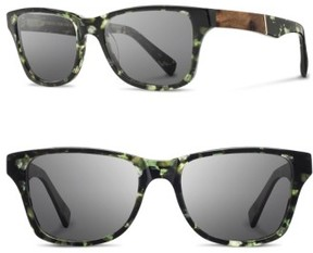 Shwood Men's 'Canby' 54Mm Acetate & Wood Sunglasses - Darkforest/ Elm/ Grey