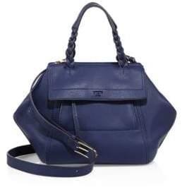 Tory Burch Half-Moon Leather Top Handle Bag - ROYAL NAVY - STYLE