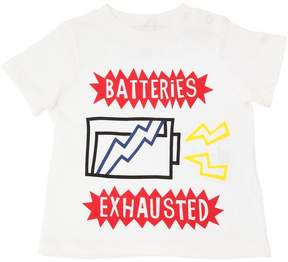 Stella McCartney Batteries Print Cotton Jersey T-Shirt