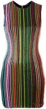 Balmain striped sequin dress