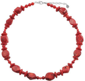 Barse Women's Red Sea Bamboo Necklace NECK344RCRL