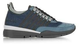 DSQUARED2 Men's Blue Denim Sneakers.