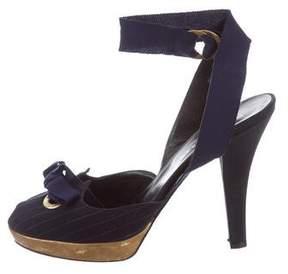 Donna Karan Peep-Toe Platform Sandals