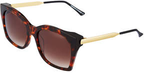 Thierry Lasry Glazy Square Acetate Sunglasses, Brown
