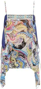 Etro Bead-embellished silk-chiffon cami top
