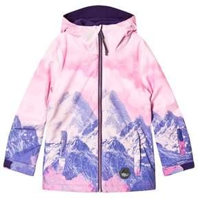 O'Neill Pink and Purple Mountain Ski Jacket