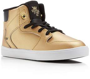 Supra Boys' Vaider Metallic High Top Sneakers - Walker, Toddler