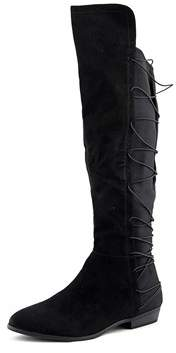 Material Girl Womens Cayln Fabric Closed Toe Knee High Fashion Boots.