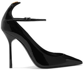 Saint Laurent Y Patent-leather Pumps - Black