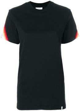 Facetasm striped panel T-shirt