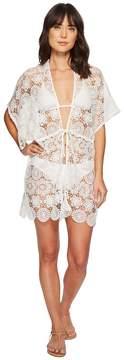 Echo Shell Lace Open Front Caftan Women's Clothing