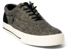 Ralph Lauren Vaughn Herringbone Sneaker Black/Cream 13