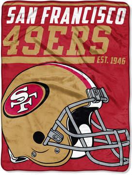 Northwest Company San Francisco 49ers Micro Raschel 46x60 40 Yard Dash Blanket