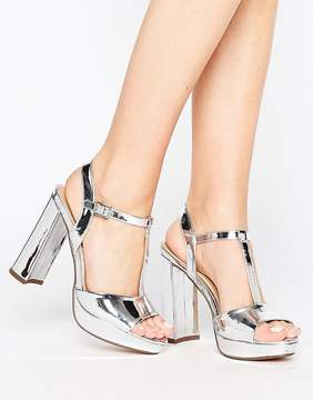 Head Over Heels By Dune Missy Metallic Platform Heeled Sandals