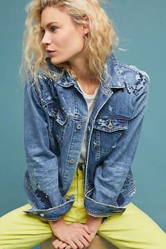 AG Jeans Nancy Embroidered Denim Jacket
