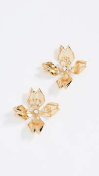 BaubleBar Metal Petals Flower Stud Earrings