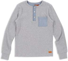 7 For All Mankind Boys' Ribbed Henley - Big Kid
