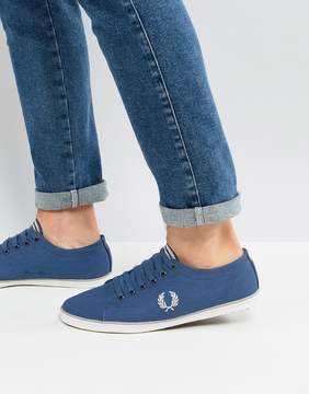Fred Perry Kingston Twill Sneakers In Blue