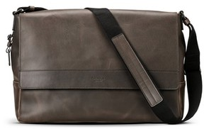 Shinola Men's Leather E/w Messenger Bag - Black