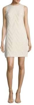 Donna Ricco Textured Fringed Sleeveless Dress