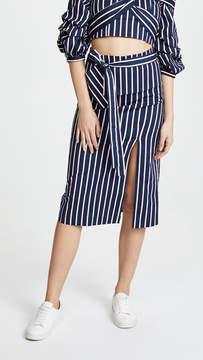 J.o.a. Navy Stripe Skirt