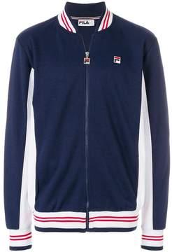 Fila colour-block zipped sweatshirt