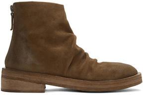 Marsèll Brown Suede Scatalone Boots