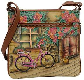 Anuschka Hand Painted Leather Women's Expandable Travel Crossbody