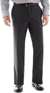 JCPenney THE SAVILE ROW CO The Savile Row Company Charcoal Flat-Front Suit Pants - Slim