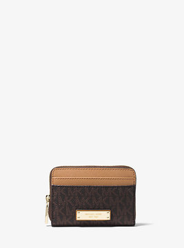 Michael Kors Jet Set Logo Wallet - BROWN - STYLE