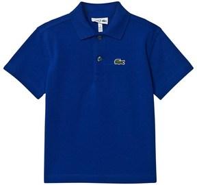 Lacoste Navy Ribbed Collar Polo Shirt