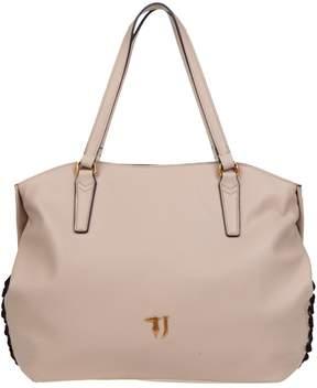 Trussardi Lavanda Tote Grained Faux Leather Top Handle Bag