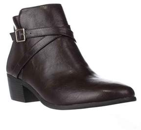 Karen Scott Ks35 Flynne Block-heel Buckle Ankle Boots, Brown.
