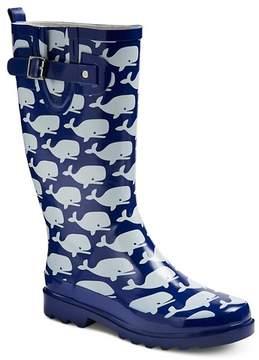 Western Chief Women's Whale Print Rain Boots - Navy