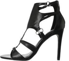 Fergie Womens Talisha Leather Open Toe Ankle Strap Classic Pumps.