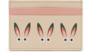 MCM Star Eyed Bunny Card Case In Nappa Leather
