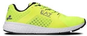 Emporio Armani Men's Yellow Fabric Sneakers.