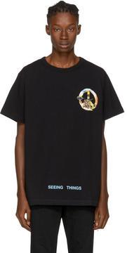 Off-White Black Mens Peace T-Shirt