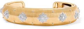 Buccellati Macri 18-karat Yellow And White Gold Diamond Cuff