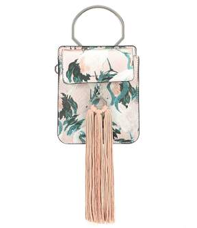 Louise et Cie Julea Printed Ring Handle Bracelet Bag