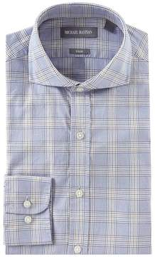 Michael Bastian Trim Fit Spread Collar Plaid Dress Shirt