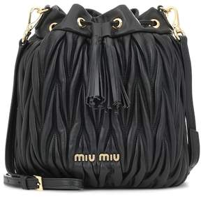 Miu Miu Matelassé leather bucket bag
