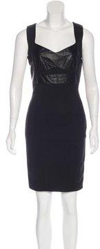 Flavio Castellani Leather-Accented Mini Dress