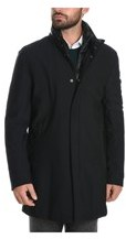 Montecore Men's Black Polyester Coat.