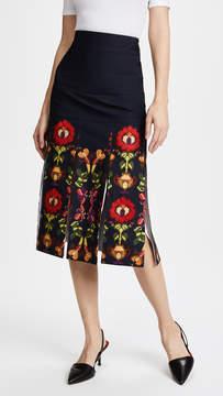 Stella Jean Floral Trompe l'Oeil Skirt