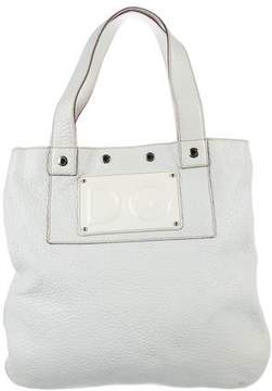 Dolce & Gabbana Grained Leather Tote - WHITE - STYLE