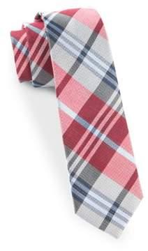 The Tie Bar Crystal Wave Plaid Silk Blend Tie