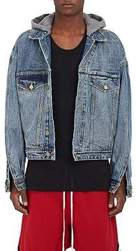 Fear Of God Men's Layered-Look Denim Hooded Jacket