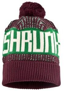 Scotch Shrunk Burgundy Knit Branded Bobble Hat